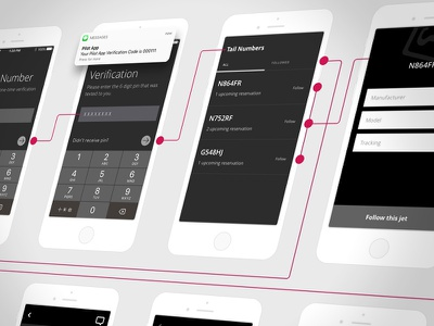 Wireframes for an upcoming iOS app uiux design mobile design wireframes strategy ux ui app ios