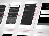 Wireframes for an upcoming iOS app