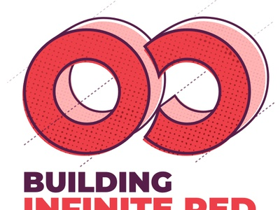 Building Infinite Red — Podcast audio cover design media sketch illustrator branding illustration cover podcast