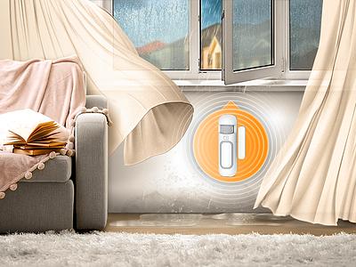 img for smart sensor ad illustration smart-home image advertising