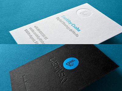 lab bcard letterpress print identity