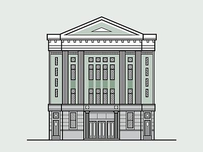 Belvárosi Mozi szeged illustration building lines