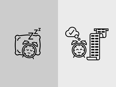 Clock icon clock timesheet line icon