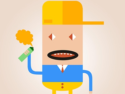 """Character Design """"Skidd"""" character design illustration vector yellow blue colors animation sketch"""
