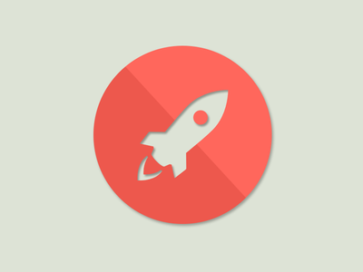 Material Design Rocket Icon lime green icon rocket red orangje material design