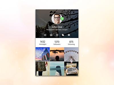 Instagram Redesign app photo sharing instagram profile material design ui user interface