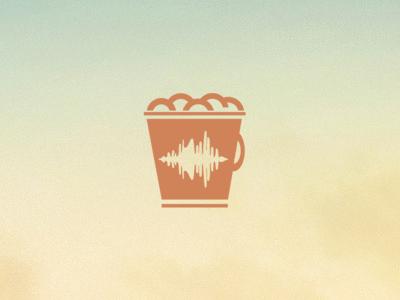SoundBucket Logo channel music yellow green orange design logo sound bucket
