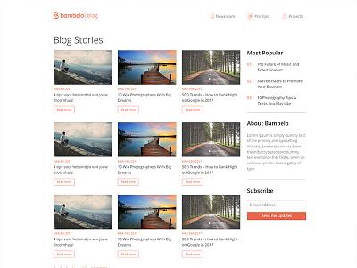 Blog interface bambelo clean page ui interface blog