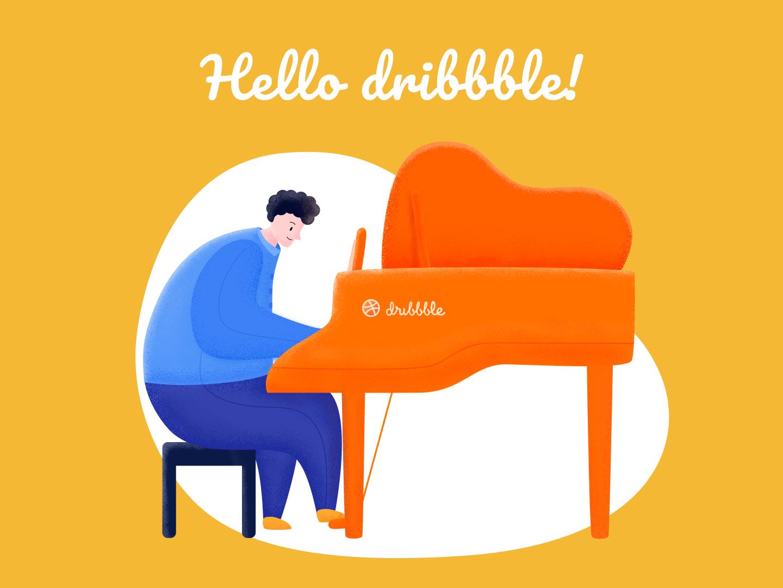 Hello dribbble ! illustration