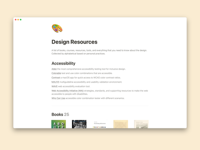 Design Resources notion design resource sketch figma tools course podcast book inspiration