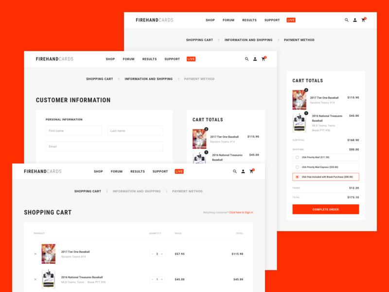 Figrehand Cards : Shopping Process product hobby football basketball baseball ecommerce web design website web shopping shop card