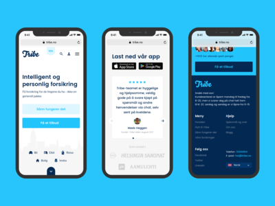 Tribe : Mobile view