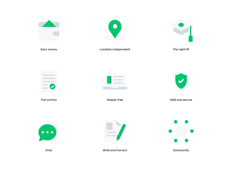 Language Tools : Icons consistency languages student teacher learn language simple ux ui minimal clean product icon
