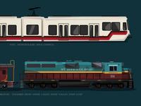 The Trains of Portland, Oregon