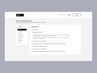 FAQ Page Design website ui design website ui ux design flat simple website design dailyui
