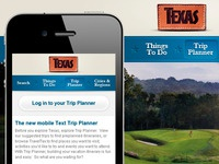 Texas Tourism Mobile Extension of Trip Planner