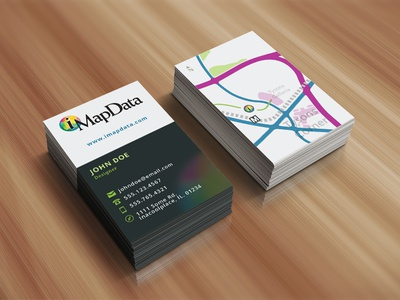 Business Cards With Map Illustration