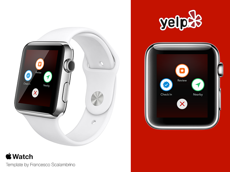 Yelp for Apple Watch concept watch apple watch yelp ui ux iwatch apple