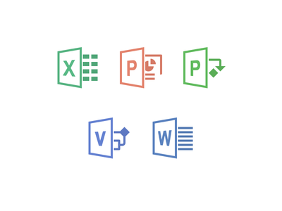 Office Icons office iconography microsoft icons