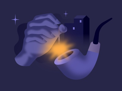 Coffee As Companion night noir light retro illustration glow retrowave affinitydesigner futuristic neon