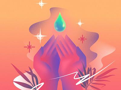 Hands Washing glow retro flat retrofuturism illustration vector retrowave affinitydesigner futuristic neon