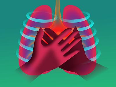 Protect Your Health glow vector retrofuturism illustration retrowave affinitydesigner futuristic neon