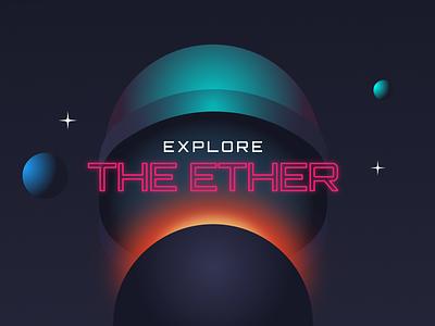 The Ether Website ethereum blockchain ux web design cyberpunk website design website ui futuristic neon