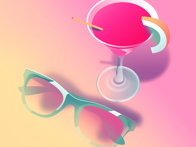 Summer Days aesthetic retro 80s airbrush color vectorillustration vector illustration affinitydesigner futuristic neon