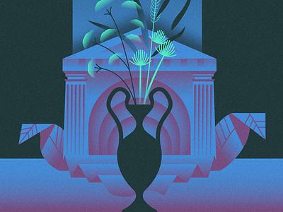 Bouquet geometric flat scifi retrowave illustration glow vector affinitydesigner neon futuristic