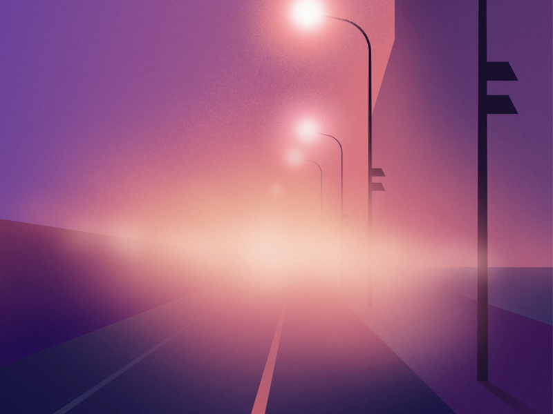 Night in the Hood citylights night synthwave retrowave vibes glow neon futuristic retrofuturism