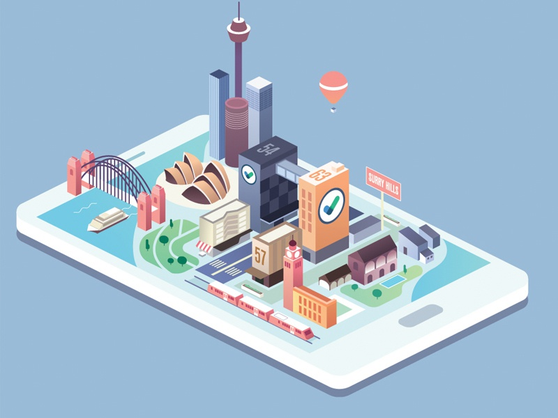 Isometric city cityscape city affinitydesigner flat vector isometric