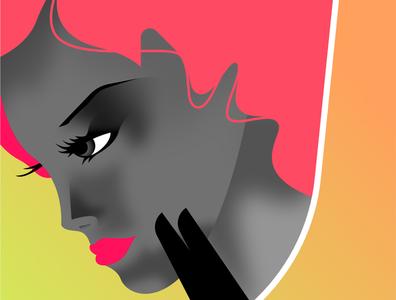 Diva illustration vector mid-century retro art deco vintage affinitydesigner futuristic