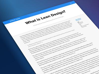 What is Lean Design? minimum viable product lean ux lean product ui design web design ux ui