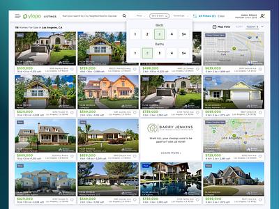 Beds & Bath Quick Filter vector web navigation bar navigation filters product ui design web design ux ui