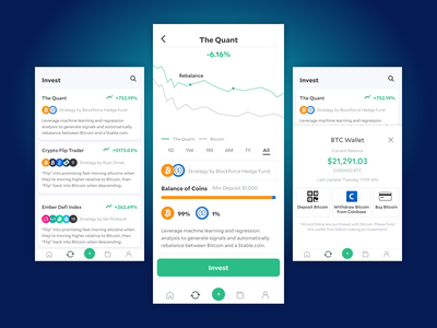 Crypto Figma Screens product ui design mobile ux ui