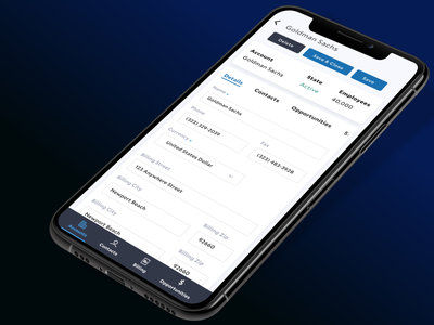 ryver CRM mobile crm product ui design mobile ux ui