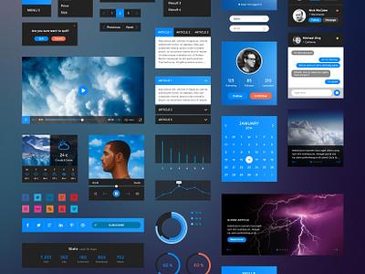 Retina UI Kit • Download Link ui kit ui graphic pack web ui kit psd free download web design web user interface ui packs