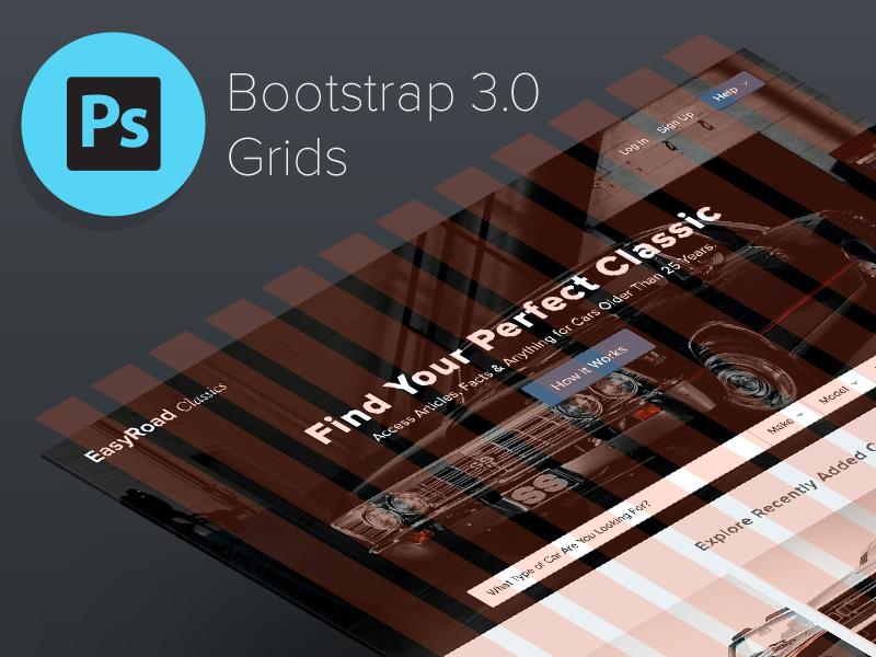 Bootstrap 3.0 Responsive Grid System PSD • Download Link ui ux bootstrap web design web development grid system