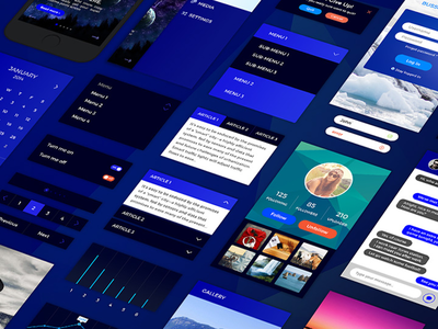 Retina iPhone Mobile UI Kit