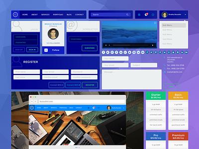 UI Kit • PSD Download  photoshop psd freebie free design web ux ui