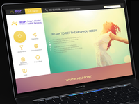 Help Point Website PSD Download