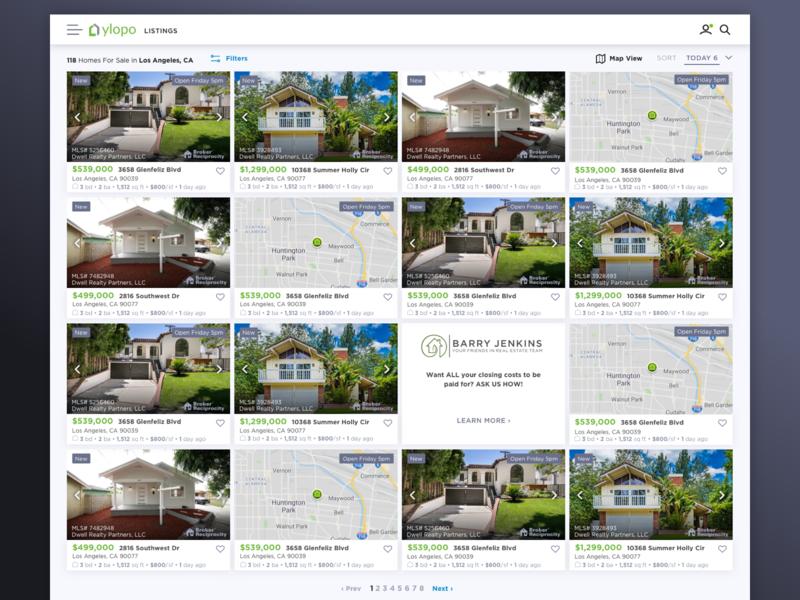 Ylopo Desktop ui ux web web design ui design product real estate real estate listing