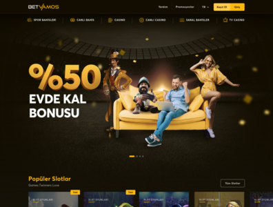 BetVamos Casino UI Design betting ui branding gamble igaming casino