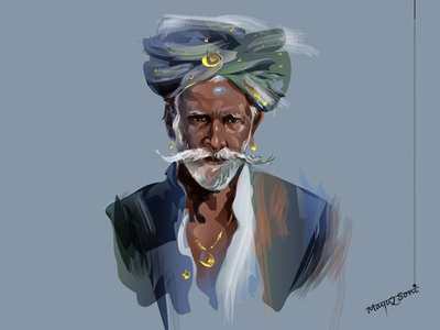 Rich man with turban