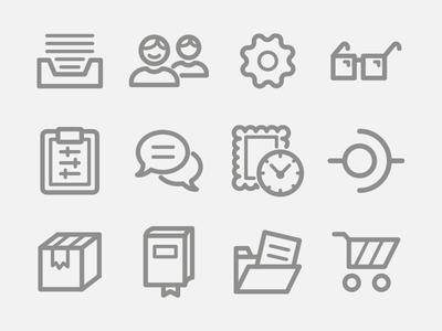 Billingo Outline Icons part 3.