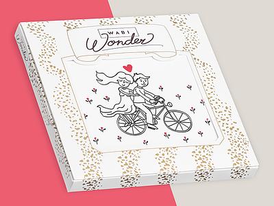 Wabi Wonder Chocolate Packaging pattern postcard sweets wonder bicycle love packaging chocolate