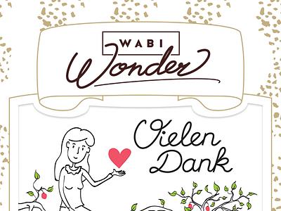 Wabi Wonder Chocolate logo close-up chocolate packaging love wonder close-up sweets postcard pattern logo
