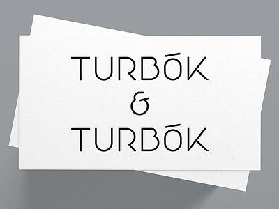 Turbok & Turbok Logo ampelsand geometric custom type identity typography logotype wordmark mark branding logo