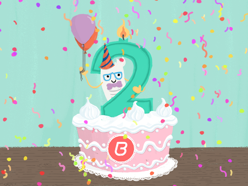 Peachy Billingo 2Nd Birthday Cake By Voov Studio On Dribbble Funny Birthday Cards Online Inifodamsfinfo