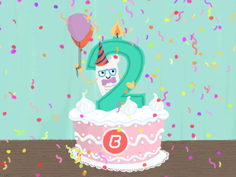 Swell Billingo 2Nd Birthday Cake By Voov Studio On Dribbble Funny Birthday Cards Online Elaedamsfinfo